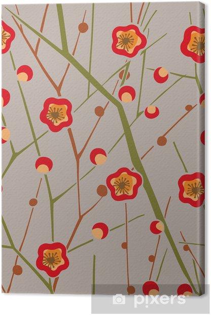 Obraz na płótnie Wzór graficzny - Kwiaty