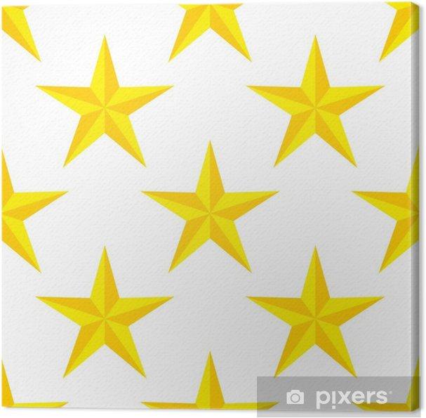Obraz na płótnie Wzór, gwiazdy na białym tle - Hobby i rozrywka