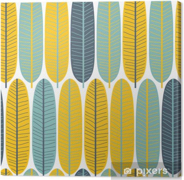 Obraz na płótnie Wzór ładny tropikalny liści. doskonały nadruk z tkaniny. wektorowa ręka rysująca ilustracja. - Zasoby graficzne