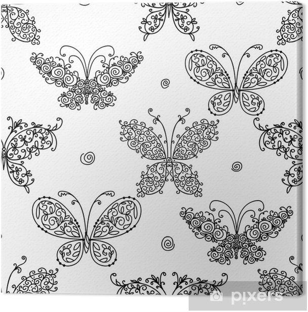 Obraz na płótnie Wzór motyla dla twojego projektu - Pory roku