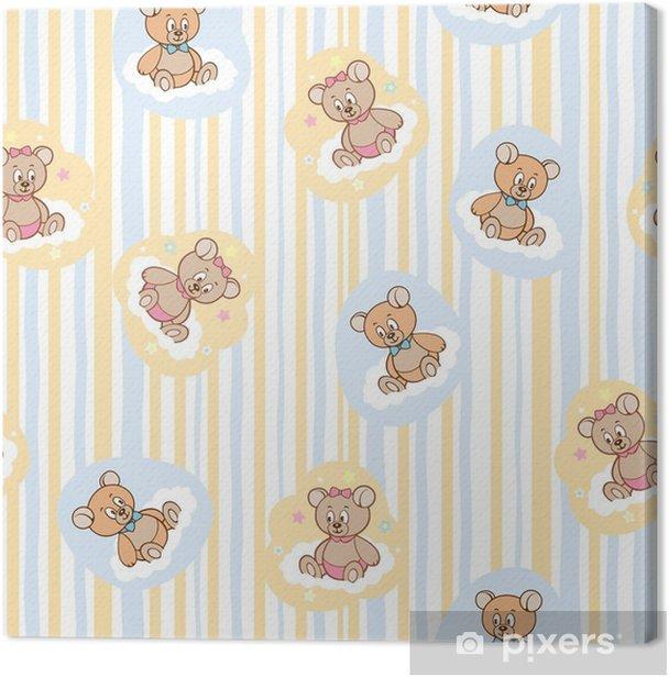 Obraz na płótnie Wzór na tle dziecka z niedźwiedziami - Zasoby graficzne