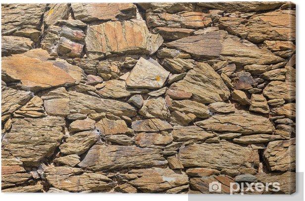 Obraz na płótnie Wzór starej kamiennej powierzchni - Tekstury