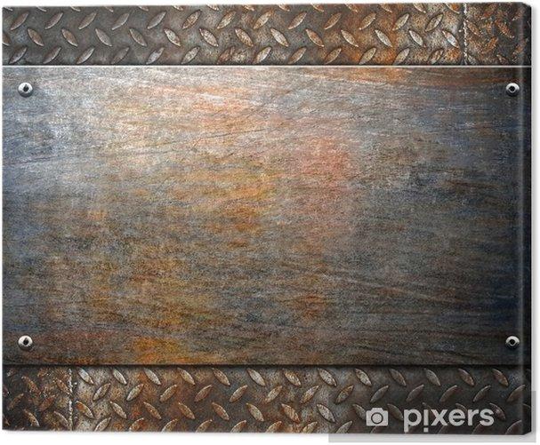 Obraz na płótnie Wzór tle metalu - Style