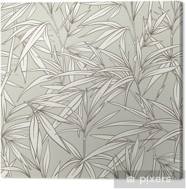 Obraz na płótnie Wzór z liści bambusa i oddziałów w japońskim sty - Rośliny i kwiaty