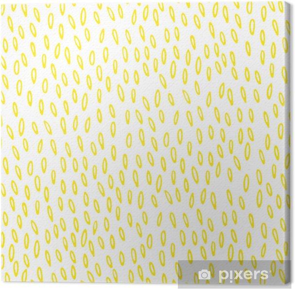 Obraz na płótnie Wzór z żółtym ręcznie rysowane ziarna - Zasoby graficzne