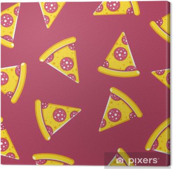 Obraz na płótnie Wzorzec czasu Pizza - Jedzenie