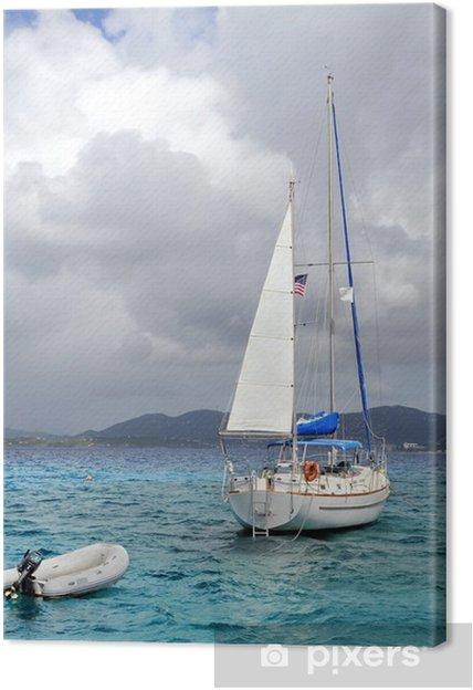 Obraz na płótnie Yatcht zacumowany w Saint Thomas Island - Ameryka