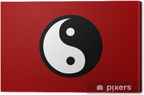 Obraz na płótnie Ying yang czerwony - Inne uczucia