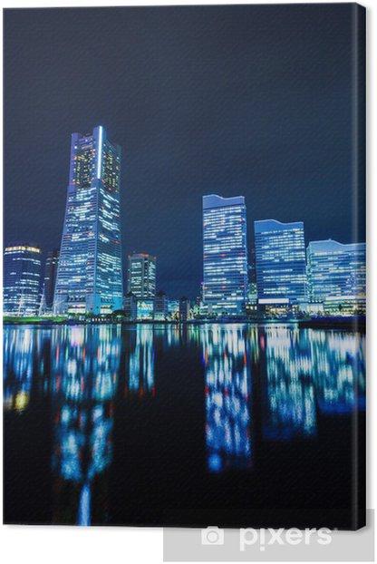 Obraz na płótnie Yokohama panoramę miasta w nocy - Pejzaż miejski