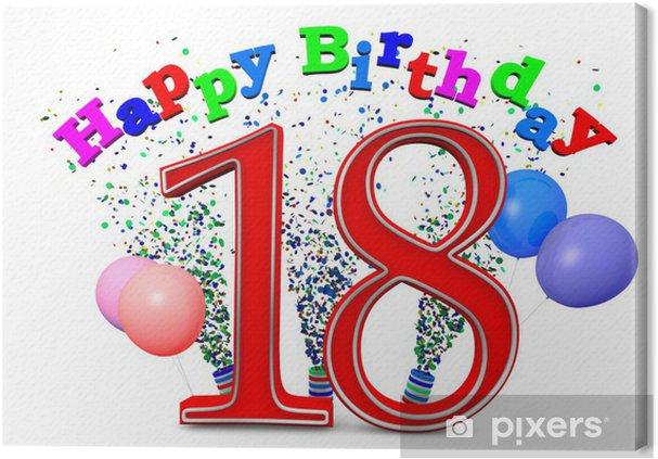 Obraz na płótnie Z okazji urodzin 18 - Świętowanie