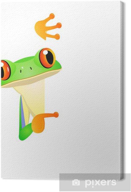 Obraz na płótnie Żaba z pustym znakiem - Inne Inne