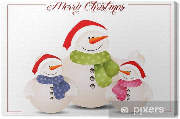 Obraz na płótnie Zabawna rodzina bałwana na Boże Narodzenie - Święta międzynarodowe