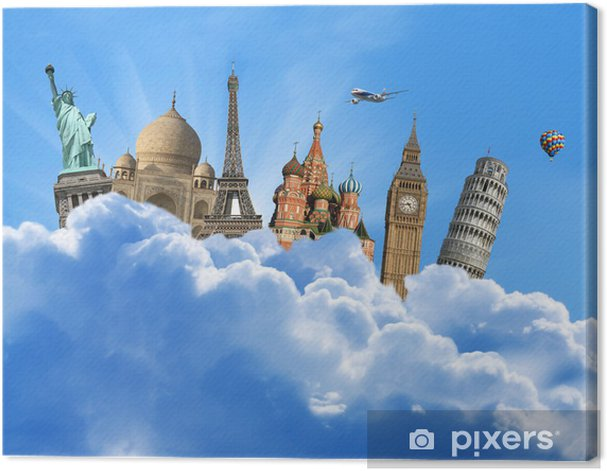Obraz na płótnie Zabytki świata w niebie yhe - Transport powietrzny