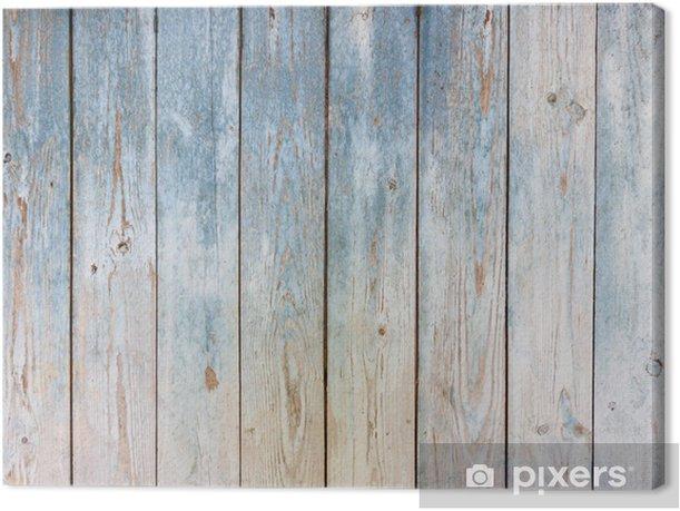 Obraz na płótnie Zabytkowe drewniane tle niebieski - Tła