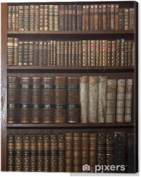 Obraz na płótnie Zabytkowe stare książki w starej biblioteki półki - Biznes