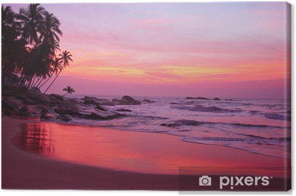 Obraz na płótnie Zachód słońca i tropikalnych plaży - Woda
