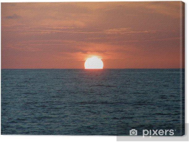 Obraz na płótnie Zachód słońca na Atlantyku - Niebo