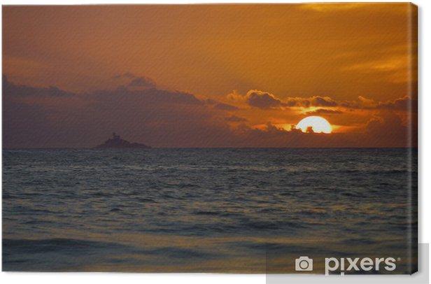 Obraz na płótnie Zachód słońca na plaży Baie des Trèpassées - Europa