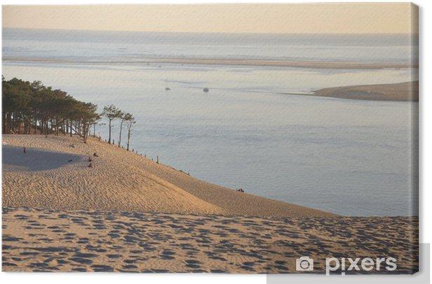 Obraz na płótnie Zachód słońca na wydmy Pyla 12 - Wakacje