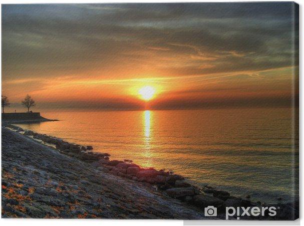 Obraz na płótnie Zachód słońca nad Jeziorem Bodeńskim, Lindau, Niemcy - Wakacje