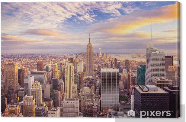 Obraz na płótnie Zachód słońca nad Manhattanem -