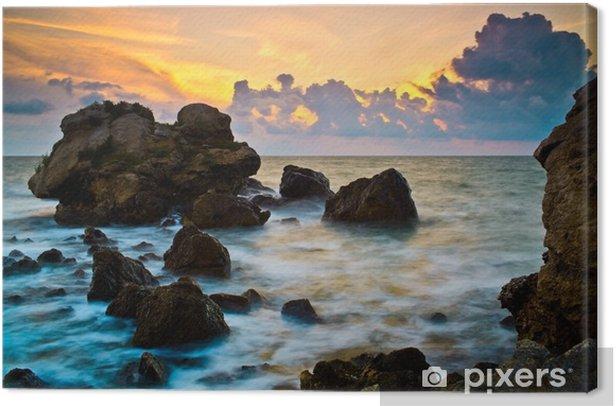 Obraz na płótnie Zachód słońca nad morzem - Cuda natury