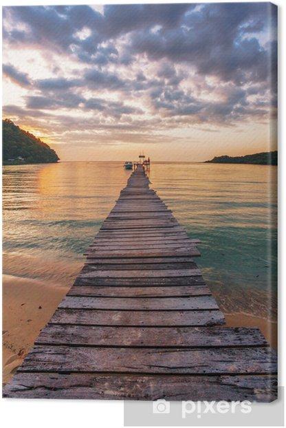 Obraz na płótnie Zachód słońca nad morzem. - Niebo