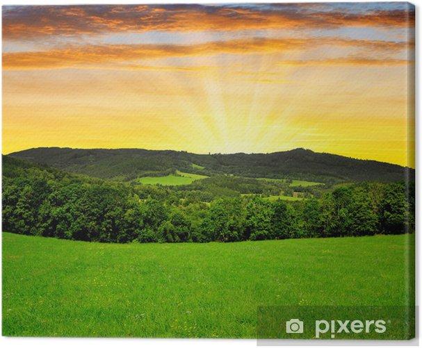 Obraz na płótnie Zachód słońca nad Park Narodowy Szumawa w Czechach - Europa
