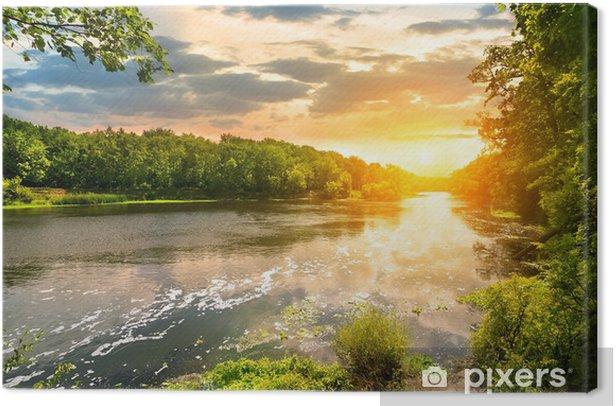 Obraz na płótnie Zachód słońca nad rzeką - Tematy