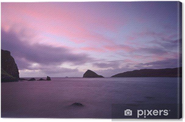 Obraz na płótnie Zachód słońca nad zatoką tulm -