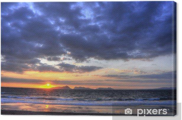 Obraz na płótnie Zachód słońca w Cies Islands (HDR) - Wyspy