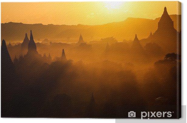 Obraz na płótnie Zachód słońca w Myanmar - Azja