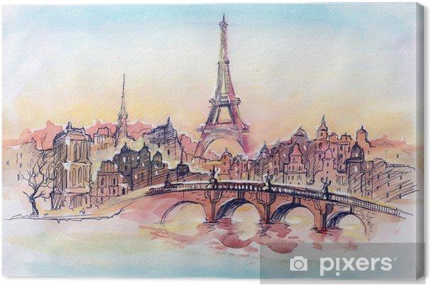 Obraz na płótnie Zachód słońca w Paryżu - Tematy