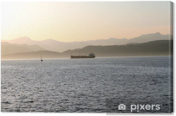 Obraz na płótnie Zachód słońca w Vancouver - Woda