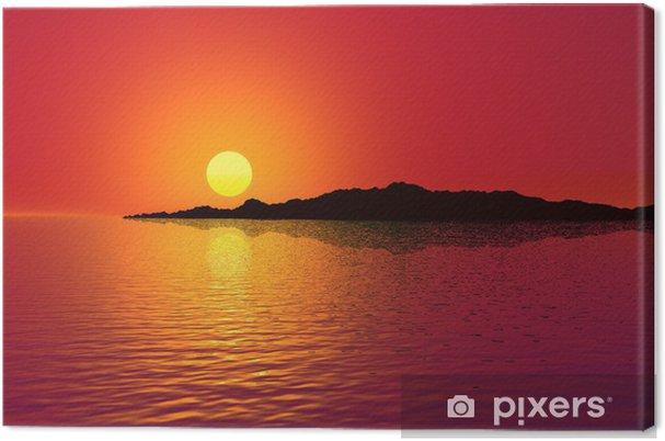 Obraz na płótnie Zachód słońca - Niebo