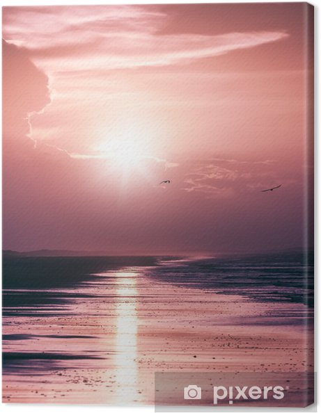 Obraz na płótnie Zachód słońca -