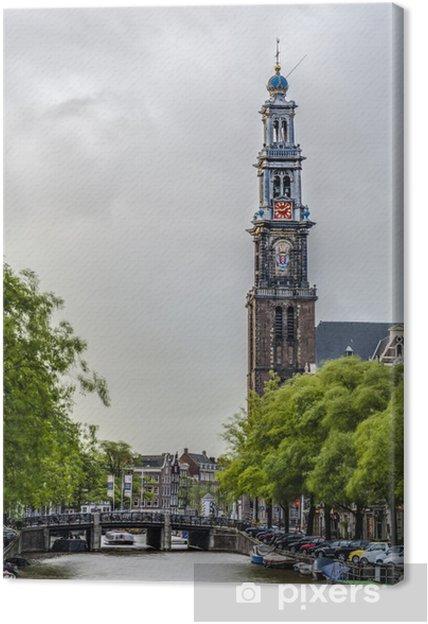Obraz na płótnie Zachodniej kościoła w Amsterdamie, Holandia. - Miasta europejskie
