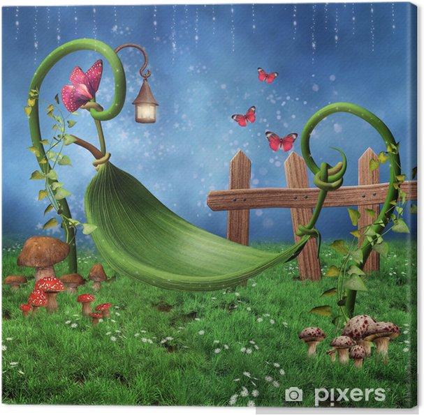 Obraz na płótnie Zaczarowana łąka z hamakiem z Liščí -