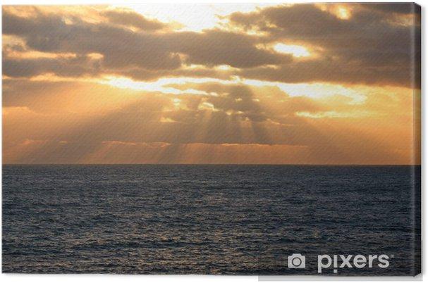 Obraz na płótnie Zajdzie słońce nad oceanem Australien_07_1181 - Czas