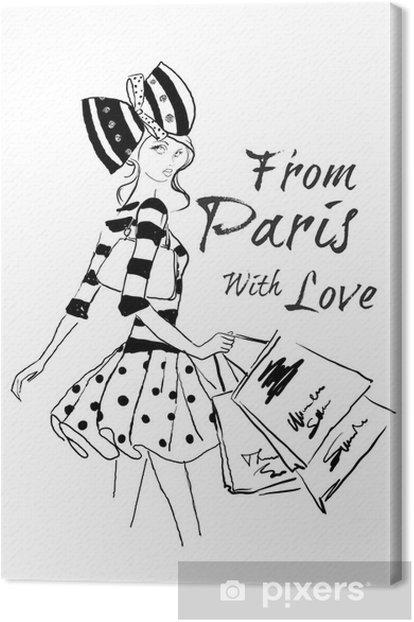 Obraz na płótnie Zakupy w Paryżu - Moda