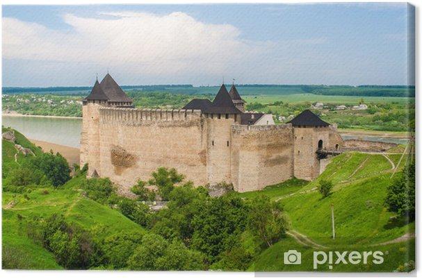 Obraz na płótnie Zamek Chocim na Dniestru rzeki. Ukraina - Tematy