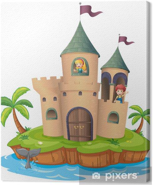 Obraz na płótnie Zamek na wyspie - Drzewa i liście