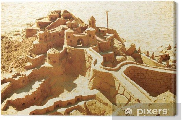 Obraz na płótnie Zamek piasku na plaży - Wakacje
