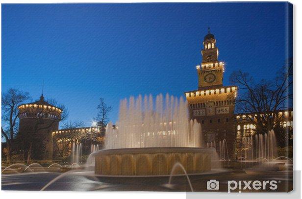 Obraz na płótnie Zamek Sforzów w Mediolanie - Zabytki