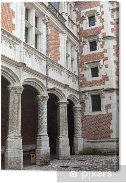 Obraz na płótnie Zamek w Blois. Gotyckie skrzydło Ludwika XII. Dolina Loary - Europa