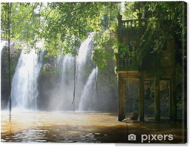 Obraz na płótnie Zamek wodospad - Woda