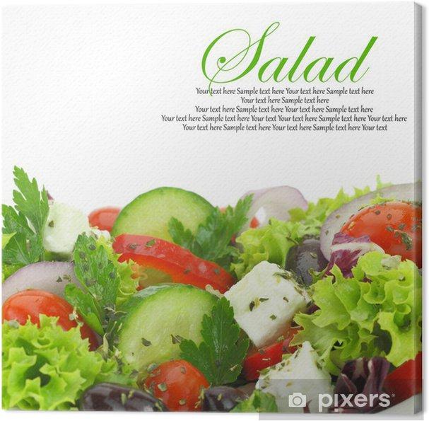 Obraz na płótnie Zamknąć świeżych warzyw mieszanych sałatka - Warzywa