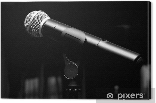 Obraz na płótnie Zamknij się z mikrofonem w sali koncertowej lub sali konferencyjnej - Elektronika