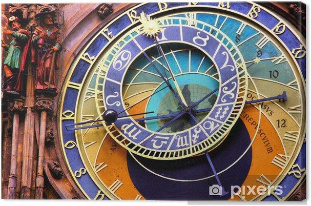 Obraz na płótnie Zamknij się zegar astronomiczny w Pradze, Republika Czeska - Zegary