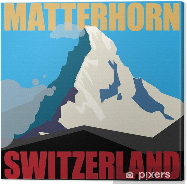 Obraz na płótnie Zamontować Matterhorn przygody tle, ilustracji wektorowych - Wakacje